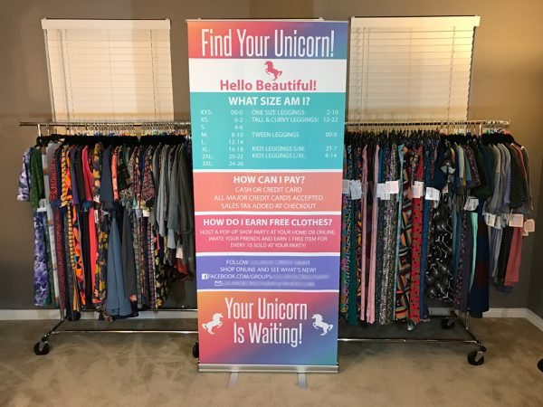 Full Color Retractable Banner Stand for LuLaRoe Trade Show Event